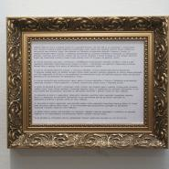 Arch of Triumph (machine-typed text, frame), 2009