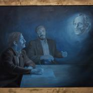 Revelation of Goethe to Two Scholars, 120x150 cm, oil/canvas