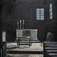 Church Interior III, 75x80 cm, oil/canvas