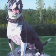 Tay, from the cycle My friends and their dogs, oil/canvas, 80x62 cm, 2007