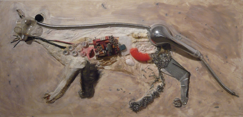 From the cycle Cyborgs, 2009, mixed media, 60x90cm