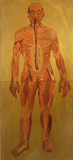 From the cycle Cyborgs, 2009, mixed media, 100x200cm