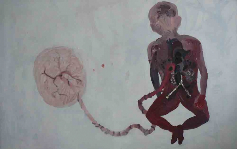 From the cycle Cyborgs, 2009, mixed media, 120x170cm