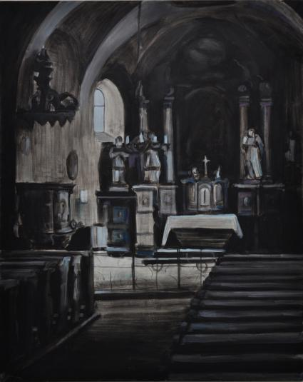 Church Interior IV., 150x110 cm, oil/canvas