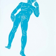 Dave, 2010, linocut, hand-made paper, 77 x 53 cm