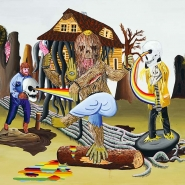 Hare o´ death 2010, acrylic on canvas, 120 × 150 cm