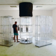 My House, 2010, transparent PVC, metal, found objects, projection