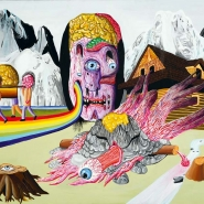 Brain-eater, 2009, acrylic on canvas, 110 × 150 cm